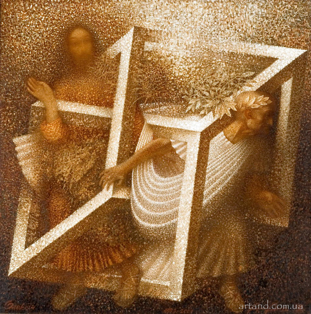 <strong>The Logic of Illusions</strong><br /><em>1993 – 2001, 78х78</em>, Oil on canvas