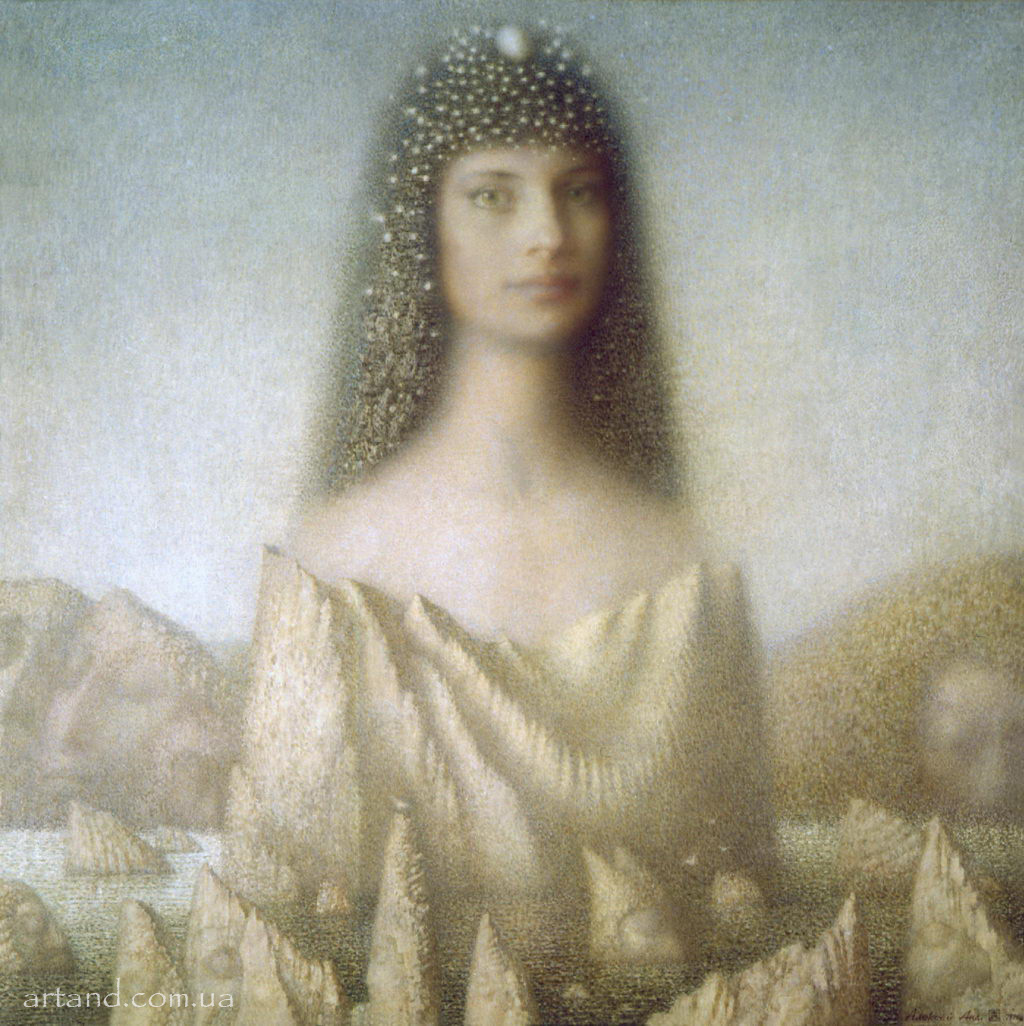 <strong>The Queen of Sleepy Rocks</strong><br /><em>1996, 75х75</em>, Oil on canvas