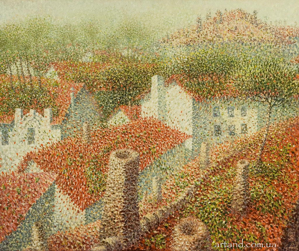 Red Roofs<strong>Red Roofs</strong><br /><em>2010, 50х60</em>, Oil on canvas